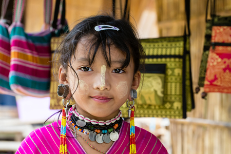 Little girl of karen tribe  Northern Thailand, near Chiang Mai