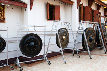 Gongs in thai temple Wat Doi Suthep - Chiang Mai, Northern Thailand  photo