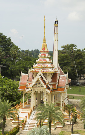 Wat Chalong temple  Stock Photo
