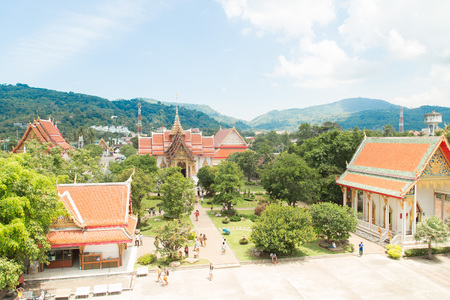 wat chalong - aerial view