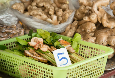 Thai herbs (tom yum) for sale on the market