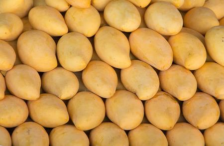 Thai yellow mango background (thai market)