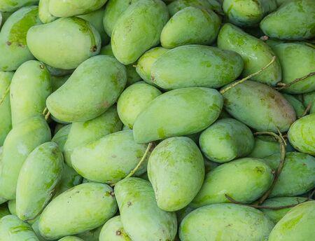 Special green mango full frame background