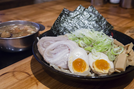 Ramen Tsukemen serving - noodle and broth separated.