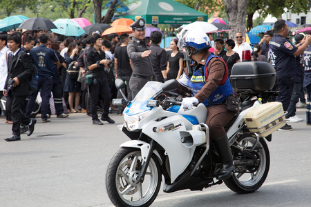 Police motorcyclist in Thailand Editorial