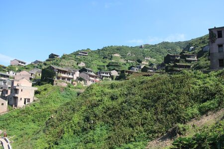 with no one: Village of gouqi Island no one Stock Photo