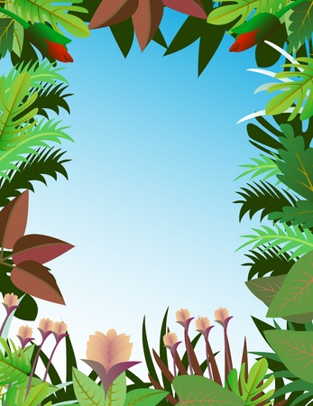 beautiful forest background Stock Vector - 12542478