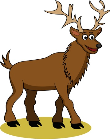 funny deer cartoon Vector