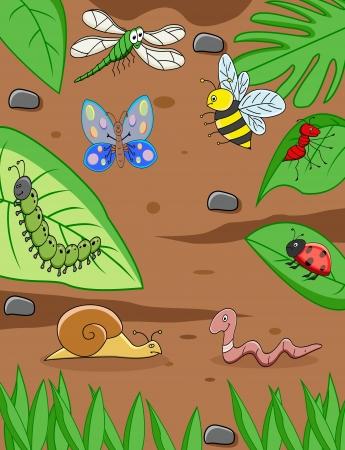 hormiga hoja: dibujos de animales pequeños Vectores