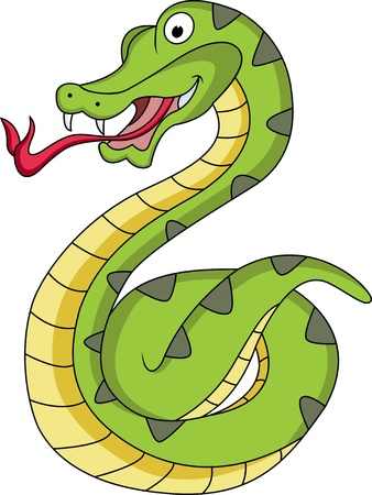 funny snake cartoon Stock Vector - 12542494