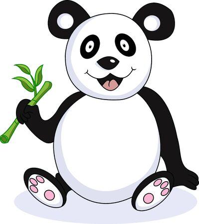 funny panda cartoon Vector