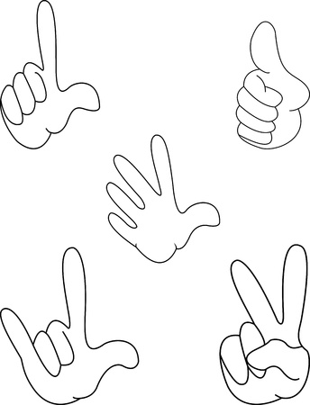hands collection Stock Vector - 12542519