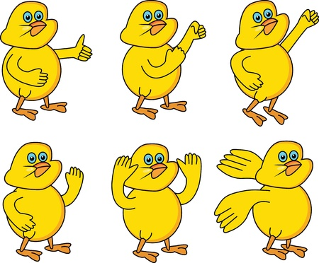 six chicken little Vector