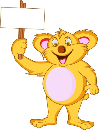 koala bear: koala with blank sign