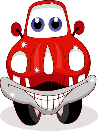 funny car cartoon Illustration
