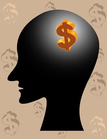 human thinking Stock Vector - 12542524