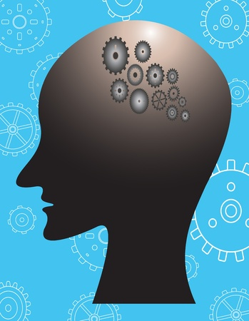 human thinking Stock Vector - 12542602