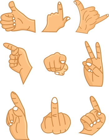 hands collection Vector
