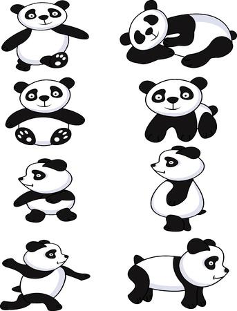 funny panda collection Vector