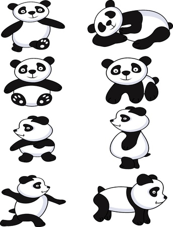 wild asia: funny panda collection