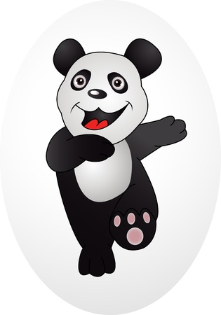 happy smile panda Vector
