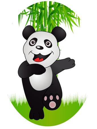 bamboo and panda Stock Vector - 12542570