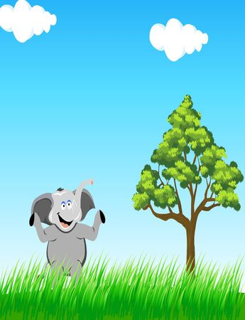 steppe: elephant in the wild