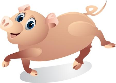 funny pig cartoon Stock Vector - 12542587
