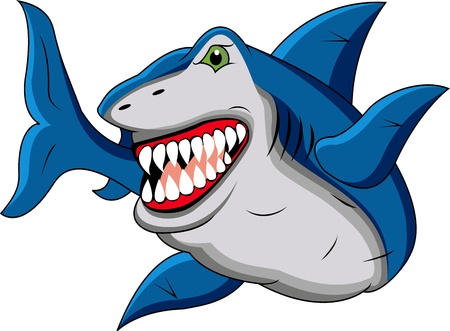 funny shark cartoon Stock Vector - 12542742