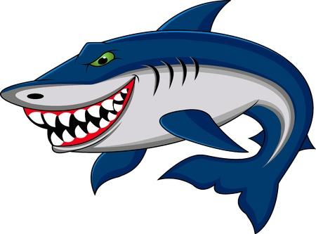 squalo bianco: shark divertente cartone animato