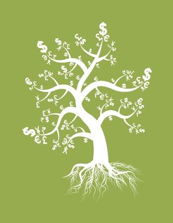 arboles blanco y negro: el dinero signo del �rbol