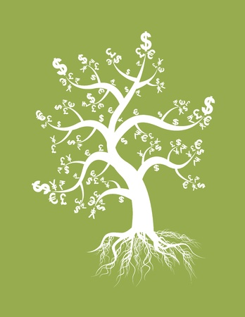 money tree sign Vector