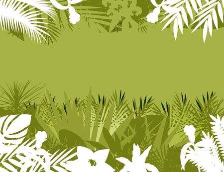 tropical forest background Stock Vector - 12542826