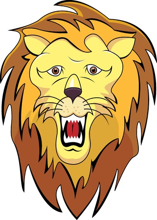 head of a lion Vector