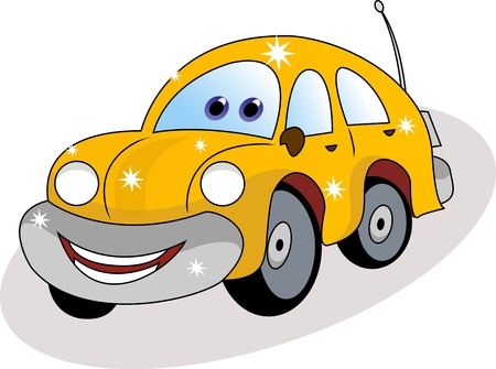 joyful: funny car cartoon Illustration