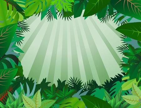 feuillage: fond de feuilles vertes Illustration