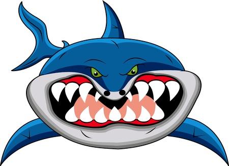 poisson rigolo: bande dessin�e dr�le de requin Illustration