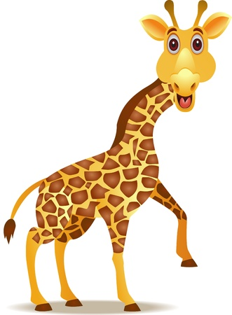 funny giraffe cartoon Stock Vector - 12542748