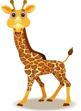 jirafa caricatura: jirafa de dibujos animados divertidos