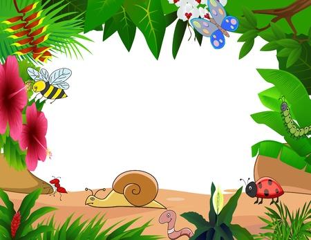 ant leaf: dibujos de animales pequeños Vectores