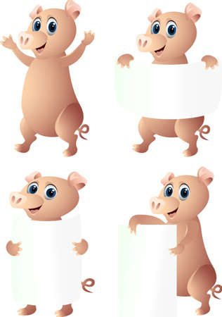 funny pig cartoon Stock Vector - 12544923