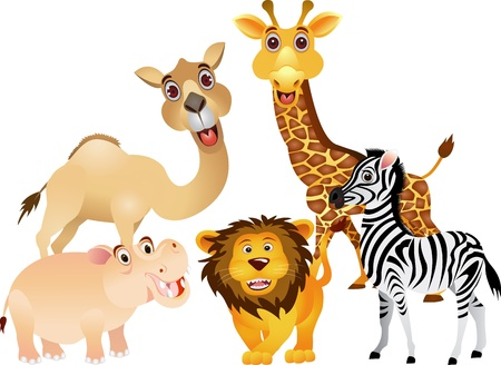 funny animal collection Vector