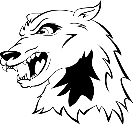 head of a wolf Vector