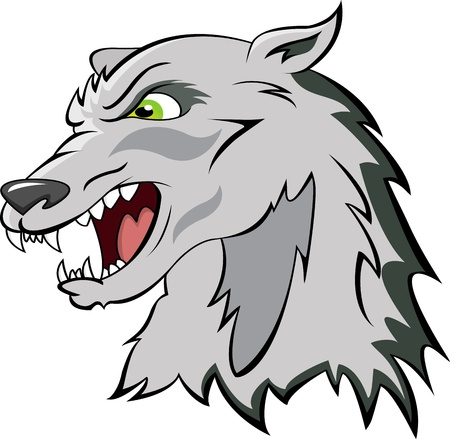 head of a wolf Illustration