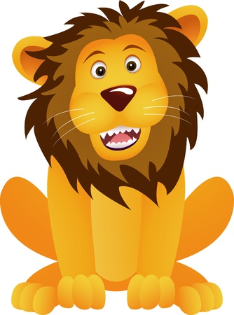 funny lion cartoon Stock Vector - 12832912