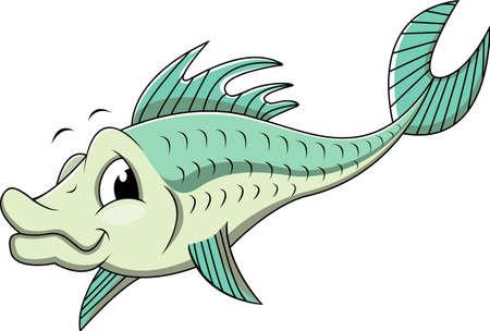 bass fish: funny fish cartoon
