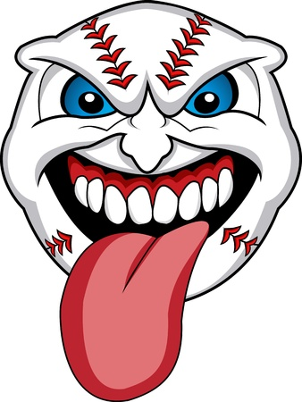 Baseball Face Cartoon  Stock Vector - 12832921