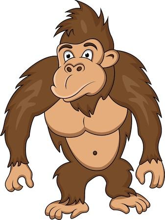 gorila: de dibujos animados gorila