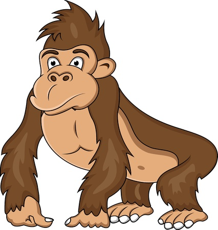 gorilla cartoon Stock Vector - 12991416