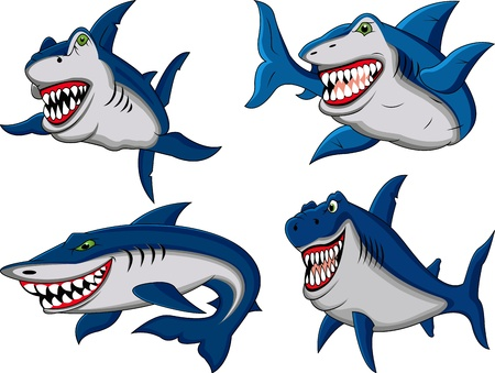 shark collection Vector